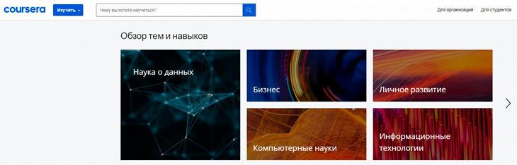 Разновидности курсов от Coursera